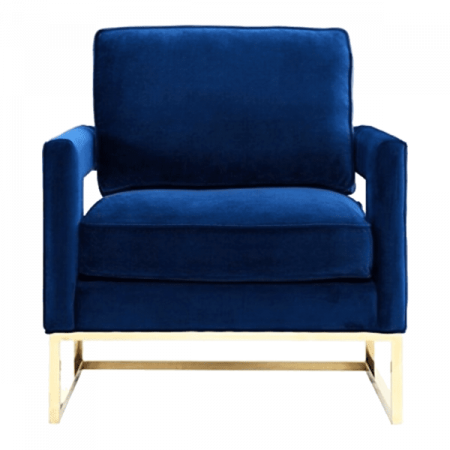 Inspired Environments Royal Blue Plush Chair Front