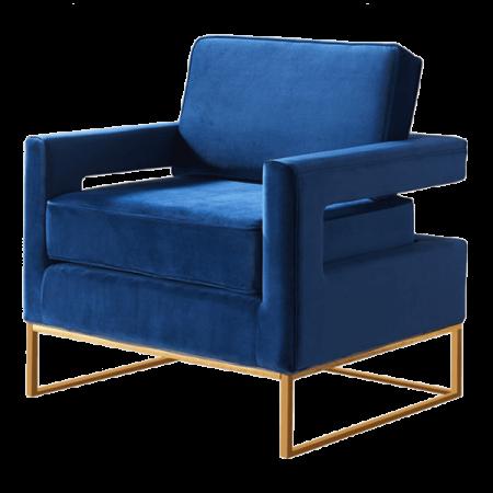 Inspired Environments Royal Blue Plush Angle