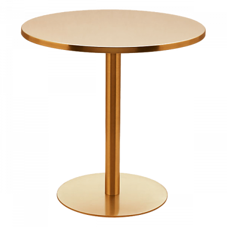 Inspired Environments Brass Bistro Table