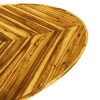 Inspired Environments Chevron Wood Oval Coffee Table Detail