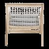Inspired Environments Coastal Teak Lounge Chair Back