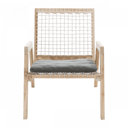 Inspired Environments Coastal Teak Lounge Chair Front