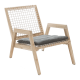 Inspired Environments Coastal Teak Lounge Chair Angle