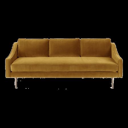 Inspired Environments Mustard Velour Sofa