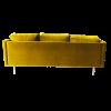 Inspired Environments Mustard Velour Sofa Back