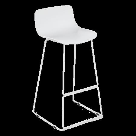 Inspired Environments White Bar Stool Angle