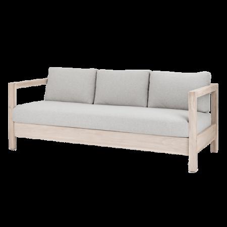 Inspired Environments Coastal Teak Lounge Sofa Angle