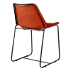 Inspired Environments Cognac Leather Dining Chair Back