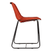 Inspired Environments Cognac Leather Dining Chair Side