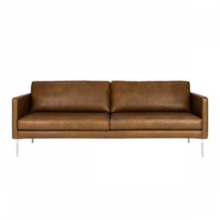 Inspired Environments Leather Sofa Front
