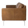 Inspired Environments Leather Sofa Side