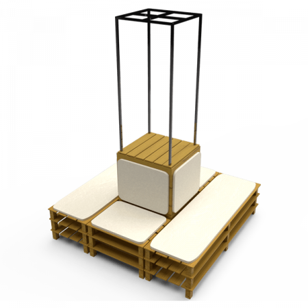 Inspired Environments Pallet Furniture Tower
