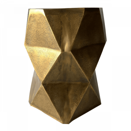 Inspired Environments Quintus Gold Side Table Side 2