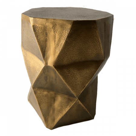 Inspired Environments Quintus Gold Side Table Side 3