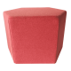 Inspired Environments Red Poppy Hexagon Side