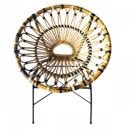Inspired Environments Round Wicker Chair Front