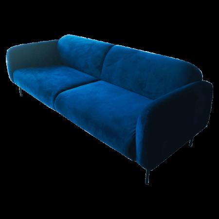 Inspired Environments Royal Blue Plush Sofa Angle