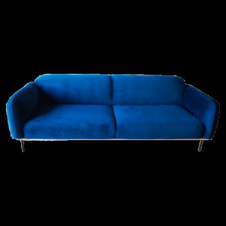 Inspired Environments Royal Blue Plush Sofa Front