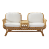 Inspired Environments Two Seater Rattan Tete-a-tete