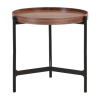 Inspired Environments Walnut Topped Side Table Front