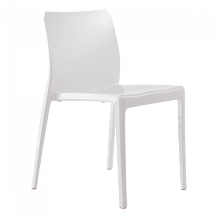 Inspired Environments White Mod Dining Chair Angle