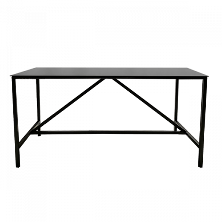 Inspired Environments Black Communal Table Side
