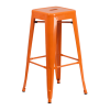 Inspired Environments Orange Tolix Metal Barstool
