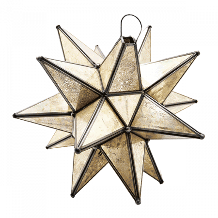 Inspired Environments Tarnished Glass Star